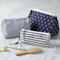 Nautical Cosmetic Bags