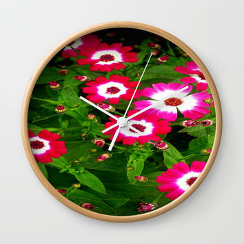 Summertime Daisies Wall Clock by Chris' Landscape Images & Designs