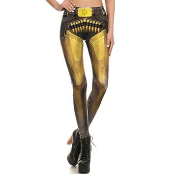Yellow Cowboy Armor Leggings