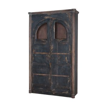 Farmhouse Rustic Armoire Natural Aged Stain,Vintage Noir