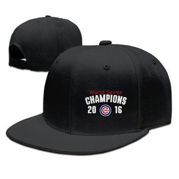 b2f54b7734f Chicago Cubs 47 Black 2016 World Series Champions Clean Up Printing Unisex  Adult Womens Baseball Cap