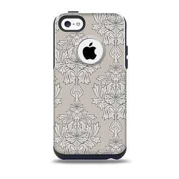 Seamless Tan Floral Pattern Skin for the iPhone 5c OtterBox Commuter Case