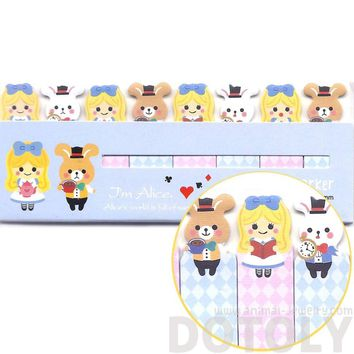 Bunny Rabbit and Alice Girl Shaped Sticky Memo Post-it Index Bookmark Tabs