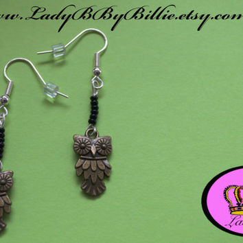 Midnight Owl Handmade Dangle & Drop Earrings