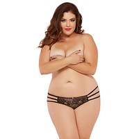 Sexy Cage Strap Low Rise Open Crotch Thong Plus Size Panty