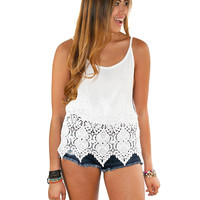 Of Your Soul White Lace Top
