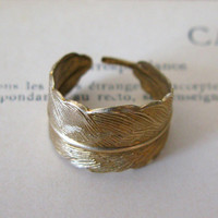 Bent Feather Ring
