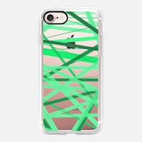 Stripey Green Lines iPhone 7 Case by Lisa Argyropoulos | Casetify