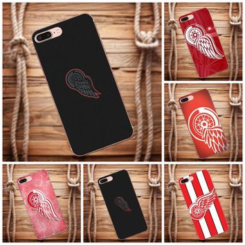 Vvcqod Red Wings Nhl TPU Protective Cover Case For Galaxy Alpha Core Prime Note 4 5 8 S3 S4 S5 S6 S7 S8 S9 mini edge Plus