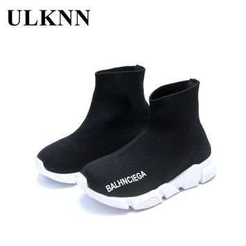 ULKNN Children Shoes Girls Boys Shoes Kids Sneakers Lightweight Mesh Breathable Socks Shoes Sneaker For Baby School Shoe Hot INS