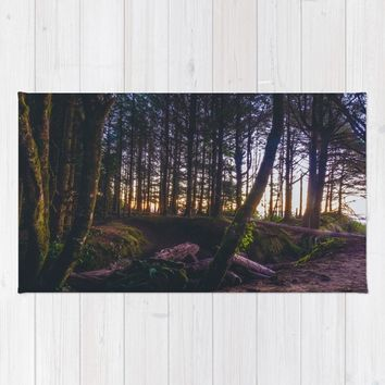 Wooded Tofino Rug by Mixed Imagery