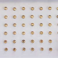 120 Rose Gold Dots Stick On Fake Nose Studs/Gold Fake Nose labret Eye Piercing Stud/Self Adhesive Nose Stud/Fake Nose Stud/Costume Jewels