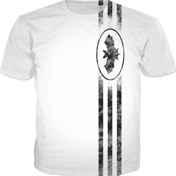 "v2 ""The BAT"" Well known comic style reference, superhero sign, symbol and three stripes"