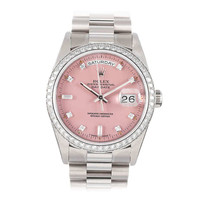 "Rolex Day-Date White Gold with ""ROSE STELLA"" Diamond Dial"