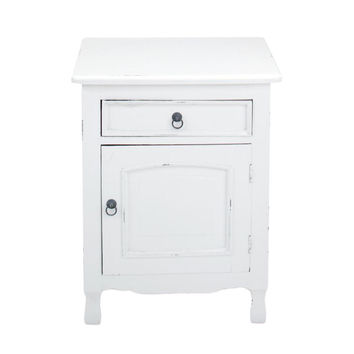 Corinth White Square Side Table | Overstock.com Shopping - The Best Deals on Coffee, Sofa & End Tables