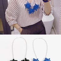 Floral Loop Necklace - Miamasvin loves u! Womens Clothing. Korean Fashion.
