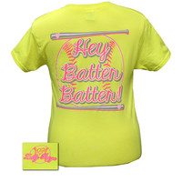 Bjaxx Lilly Paige Preppy Softball Hey Batter Sports Bright T Shirt