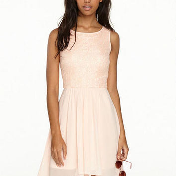 Amber Hi Low Chiffon Sequin Dress
