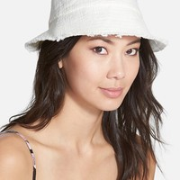 Women's Nordstrom 'Cut & Sew' Woven Bucket Hat