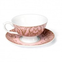 Pink Regency Teacup And Saucer | DotComGiftShop
