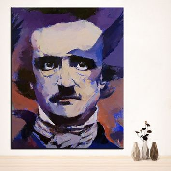 Large size Printing Oil Painting edgar allan poe Wall painting Home Decor Wall Art Picture For Living Room painting No Frame