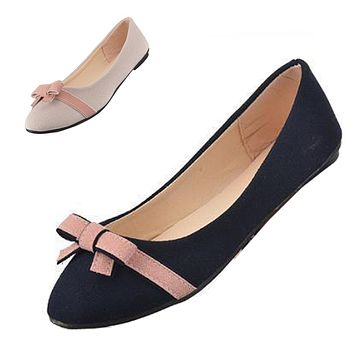 GAORUI Women's Bow Decorated Pointed Toe Pumps/Shoes
