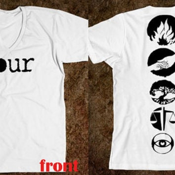 FOUR Tattoo Inspired Tee, Divergent, Tobias Eaton.