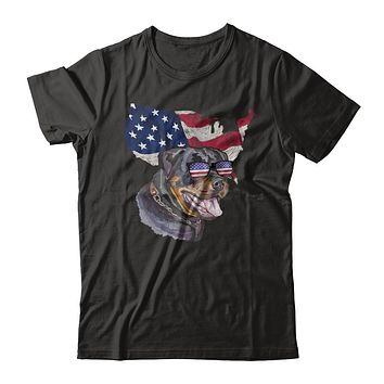 Funny Patriot Rottweiler Dog 4Th Of July American Flag
