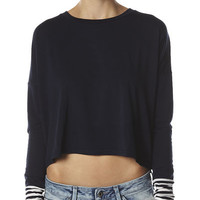 MINKPINK TRUE BLUE TOP - NAVY CREAM