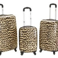 Rockland 3 Piece Upright Set, Blue Leopard, One Size