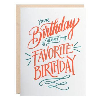 Lionheart Prints - Amost Favorite Birthday Greeting Card
