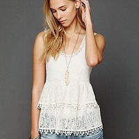 Free People Clothing Boutique > Daydream Lace Tank
