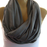 Classic Gray.. Nomad Cowl.....Infinity Scarf..Relaxed version..Super soft.