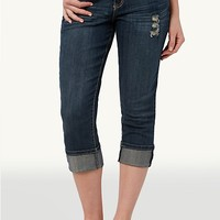 Curvy Belted Crop Jeans