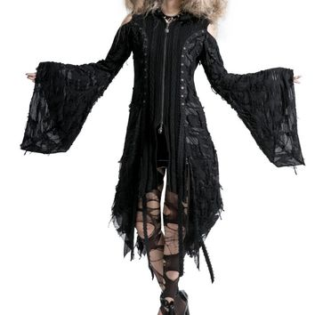 Nightbird Shred Knit Jacket :: VampireFreaks Store :: Gothic Clothing, Cyber-goth, punk, metal, alternative, rave, freak fashions