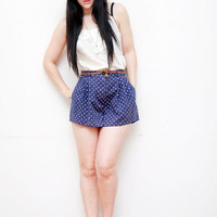 Polka Dot High Waist Dress Shorts 1990s