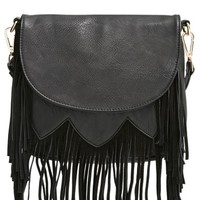 Sole Society 'Kerry' Fringe Crossbody Bag