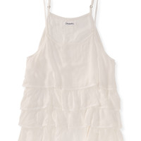 Aeropostale Womens Tiered Ruffle Tank Top