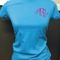 Great fitted Tshirt with Embroidered by CheeksLittleBoutique