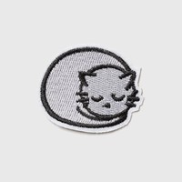 Sleepy Cat Iron On Badge