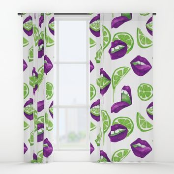 Don't Kill My Vibe (Lime) Window Curtains by MidnightCoffee