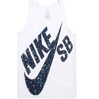 Nike SB Speckle Max Tank Top - Mens Tee - White -