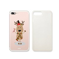 Cute Reindeer Merry Christmas Slim Transparentt Iphone 7 Case, Clear Iphone Hard Cover Case For Apple Iphone 7 Emerishop (iphone 7)