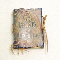 The Book of Dreams Leather journal pocket size by GILDBookbinders