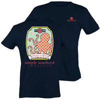 NEW Simply Southern Preppy Octopus Unwind The South Starfish Girlie Bright T Shirt