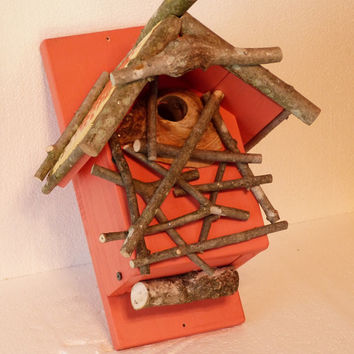 Rustic Black Capped Chickadee House