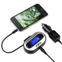 Insten FM Transmitter Car Adapter 3.5mm Universal For Samsung Galaxy S6 Edge Plus S5 S4 S3 Note 3 4 5/iPhone 6 6S 5S 4S - Walmart.com