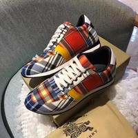 Burberry Women Men Casual Shoes Boots fashionable casual leather Women Heels Sandal Shoes
