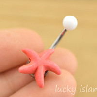 bellyring,starfish belly button jewelry,turquoise belly button rings,navel ring,piercing belly ring,body piercing bellyring