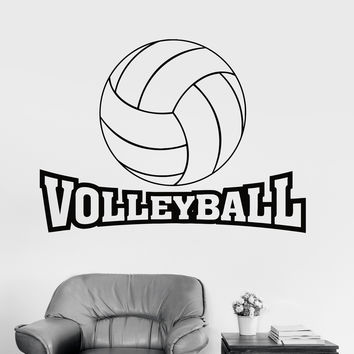 Best Volleyball Wall Stickers Products On Wanelo - Vinyl volleyball wall decals